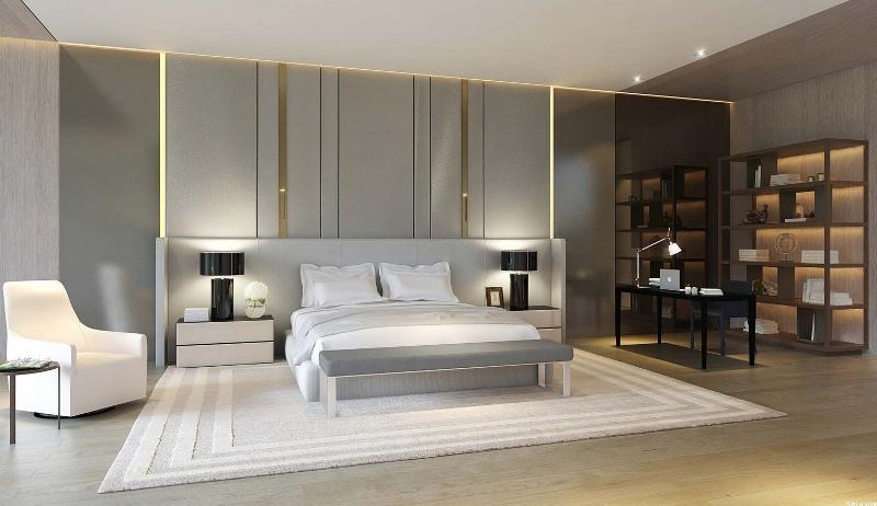 Интерьер гостиной спальни в современном стиле