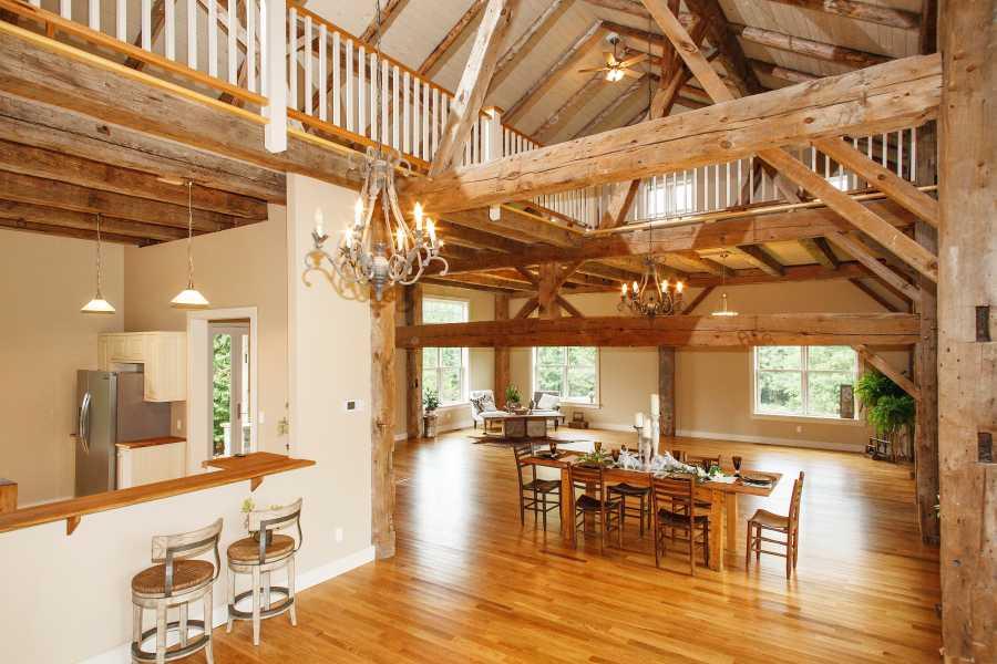 потолочные балки в деревенском стиле