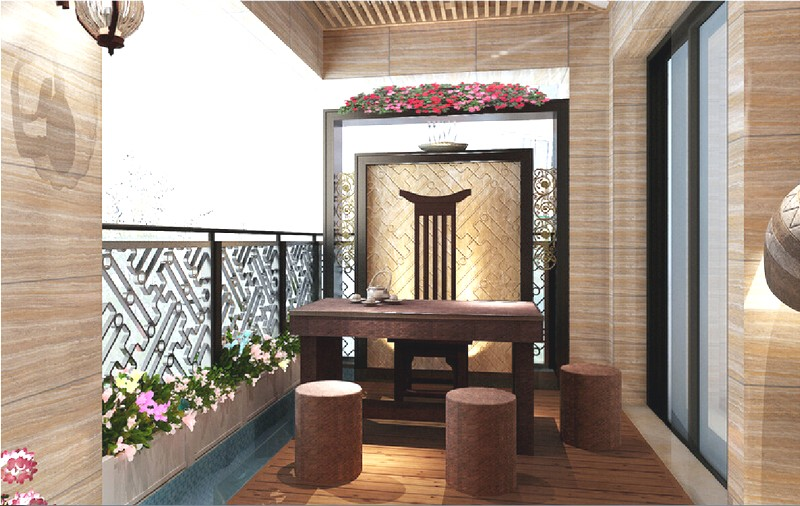 Отделка балкона в стиле хай-тек