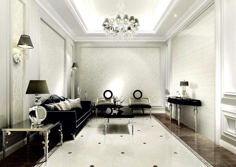Стены комнат в классическом стиле