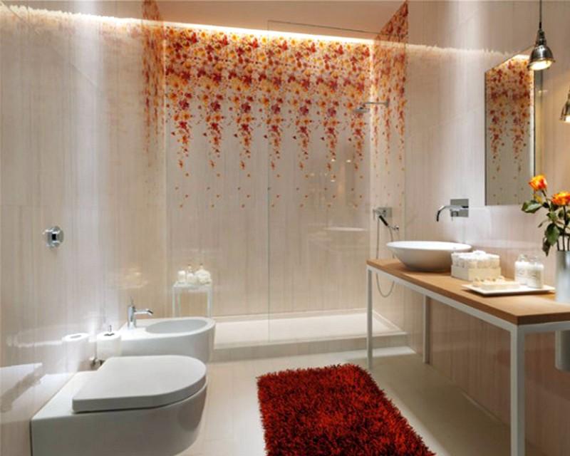 Стильный дизайн для небольшой ванной комнаты
