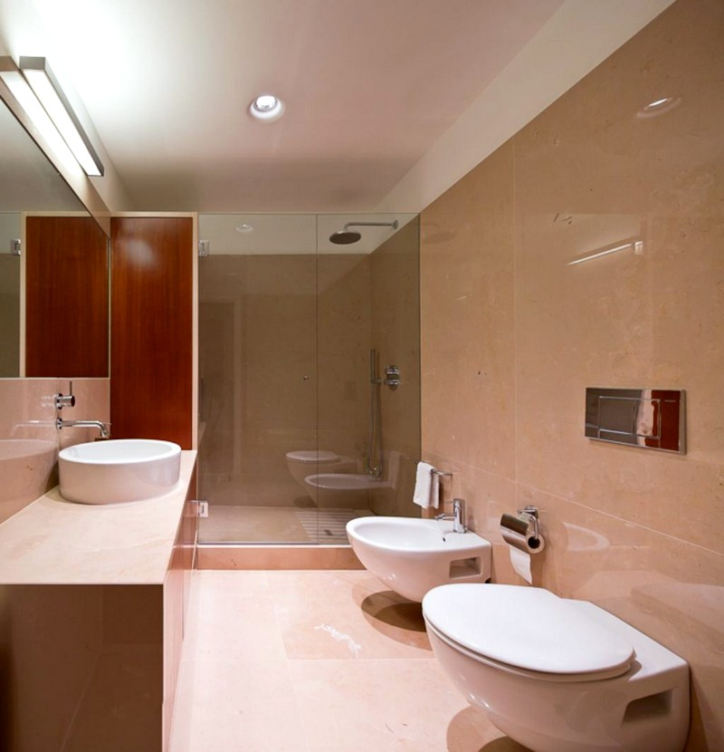 Стильный интерьер в ванной комнате