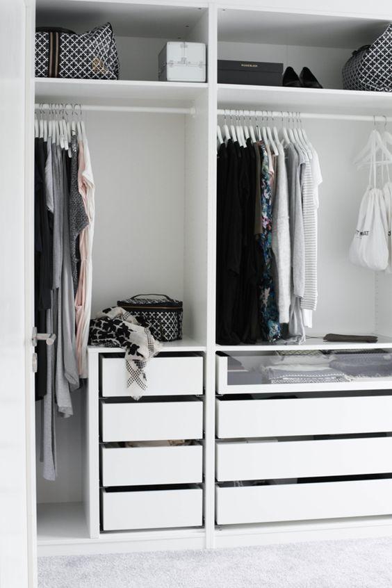 Строгая гардеробная комната в стиле минимализм