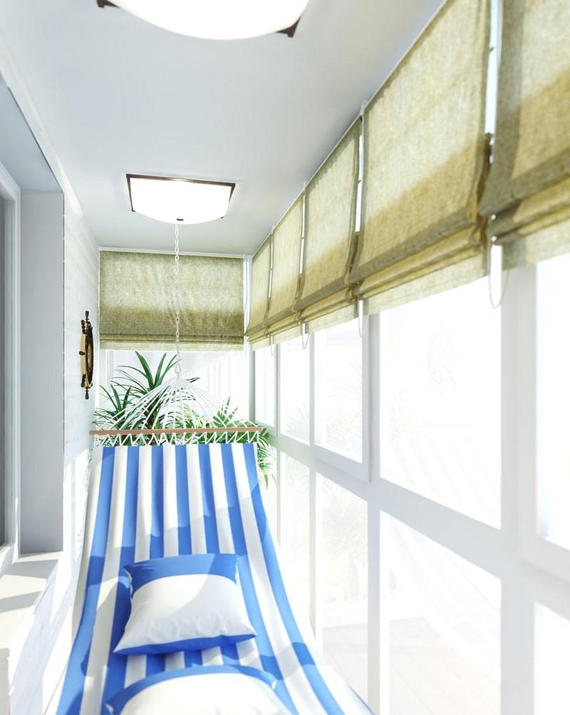 белые цвета при оформлении балкона