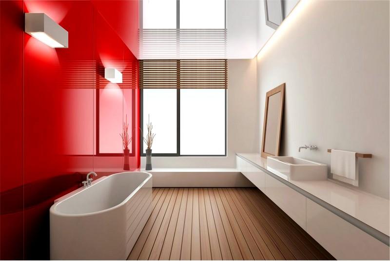 красивый дизайн ванной комнаты с крашеными стенами