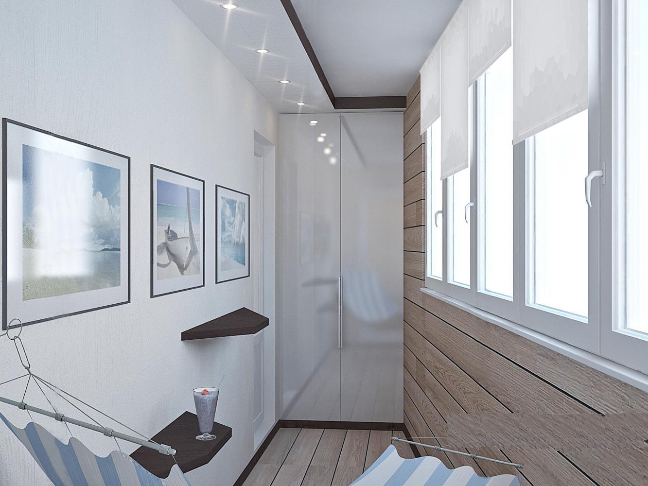 Балкон в стиле хай-тек