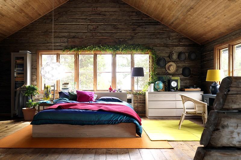 Cтильное оформление интерьера деревянного дома