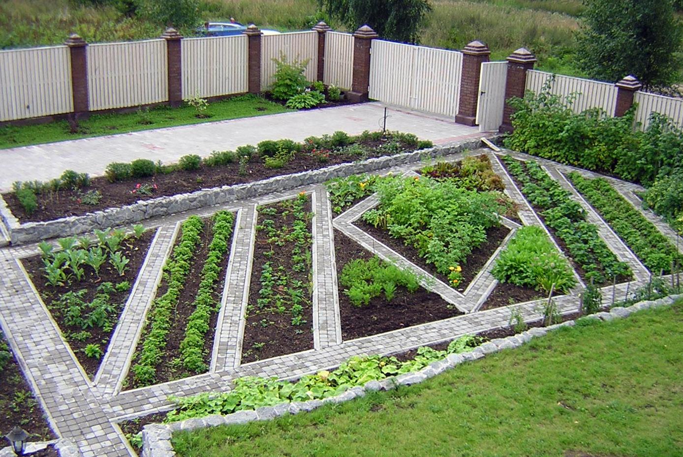 Разрабатываем дизайн огорода частного дома в деревне: этапы, фото