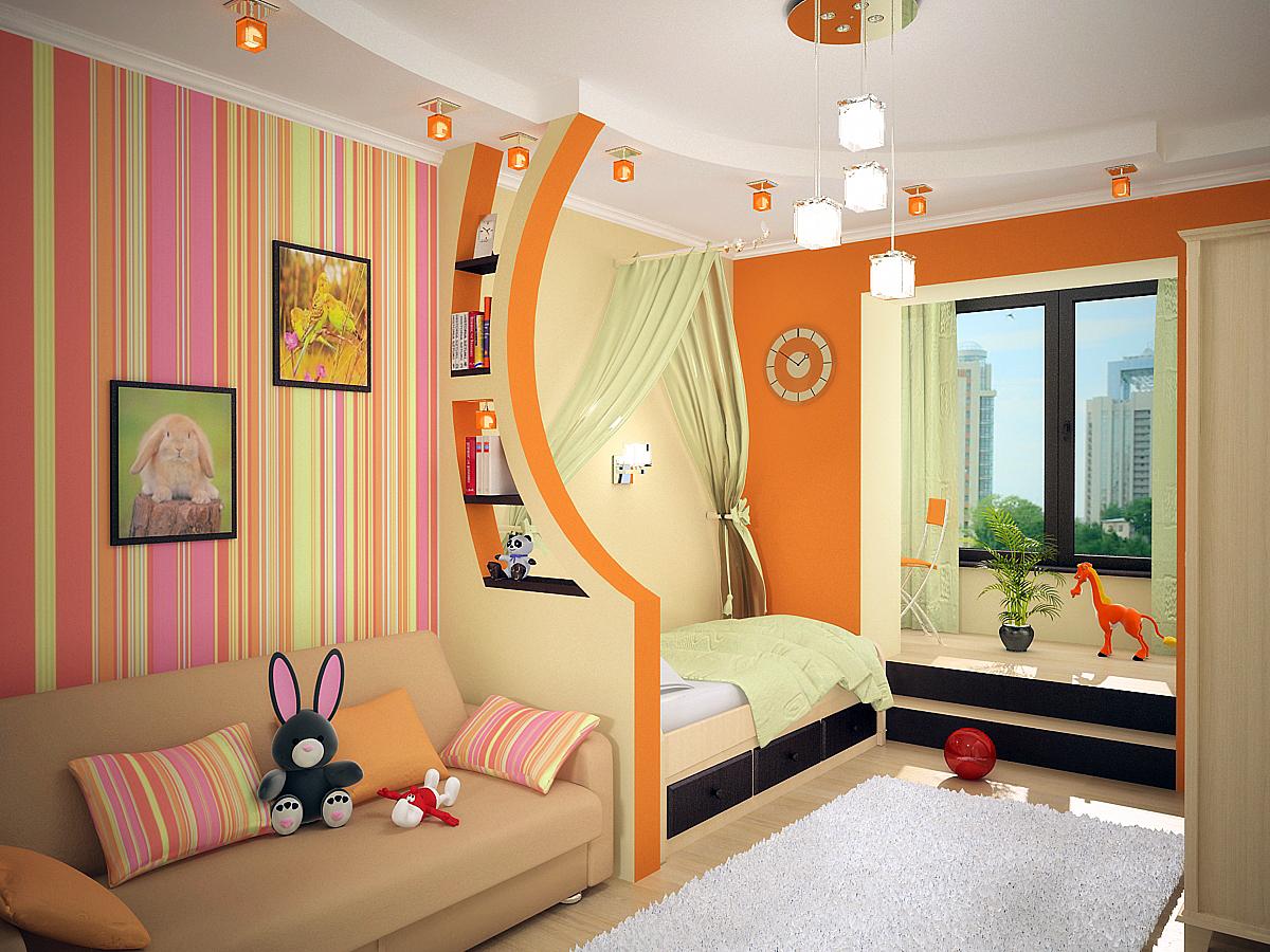 Дизайн интерьера детских комнат для двоих детей: фото