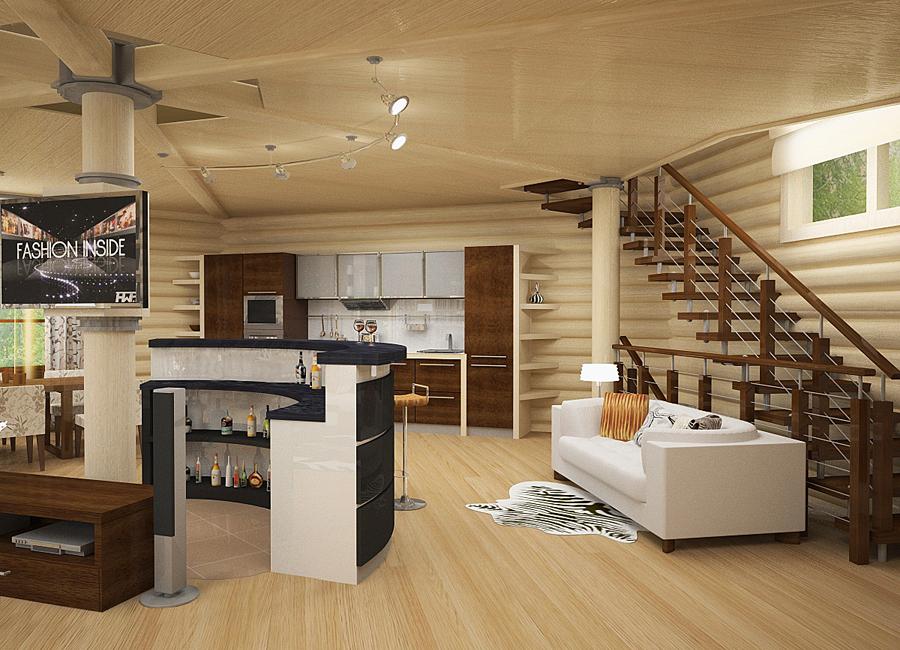 Современный дизайн дачного дома