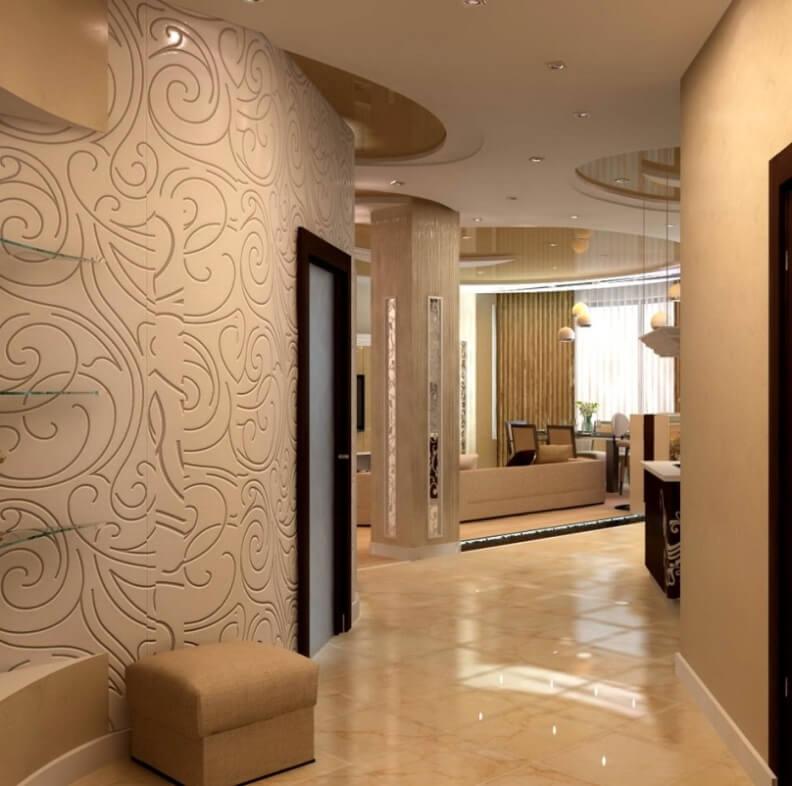 Оригинательный дизайн коридора в квартире