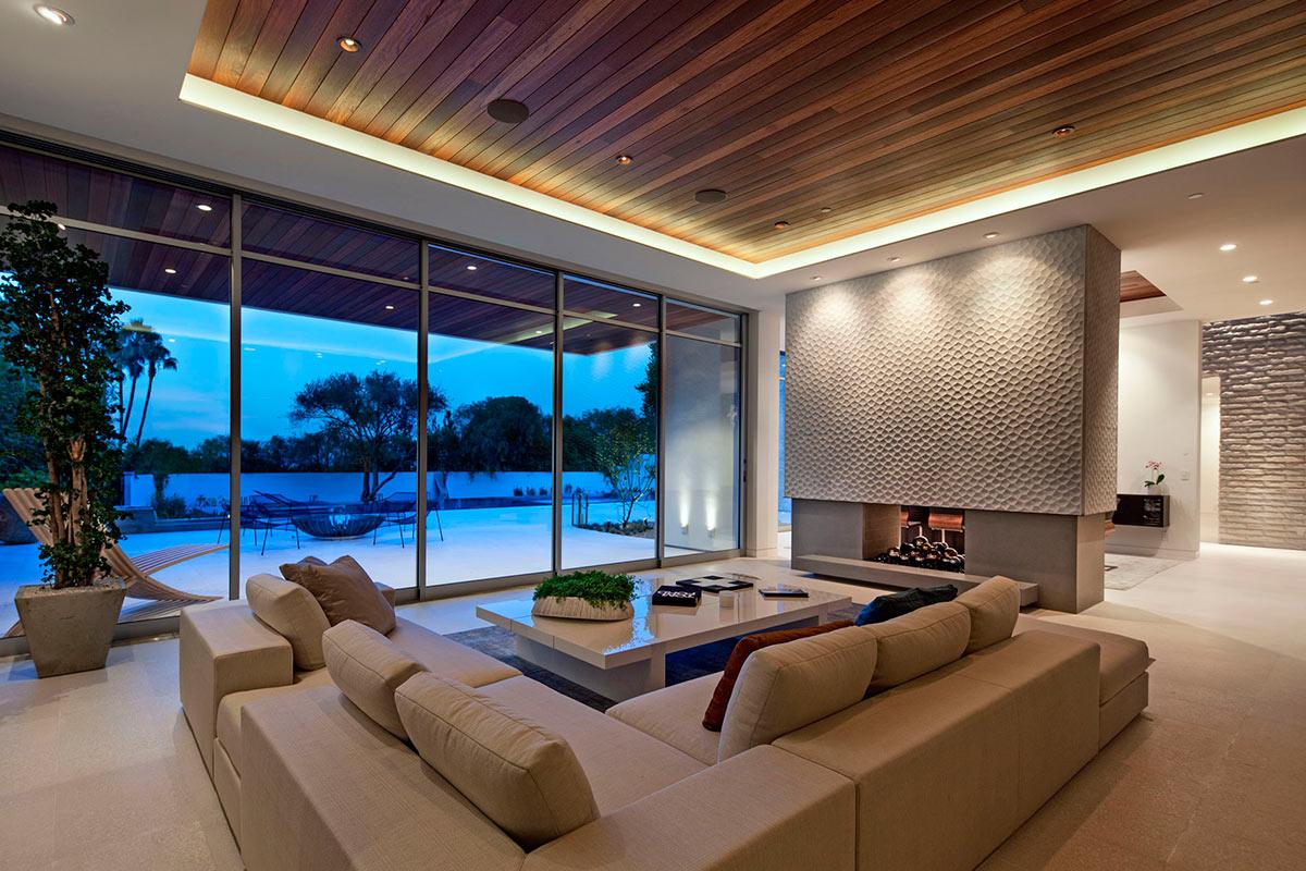 Дизайн интерьера просторного зала