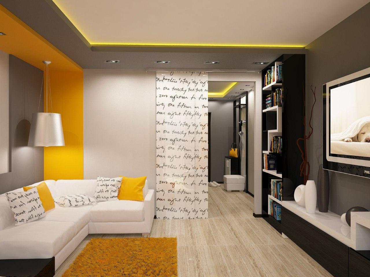 Дизайн хрущевки залы