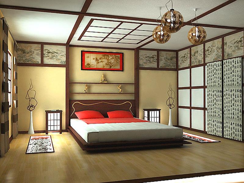 Дизайн внутри частного деревенского дома в японском стиле
