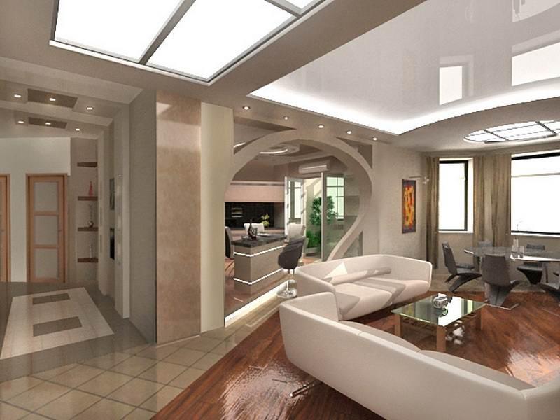 Современная и уютная гостиная