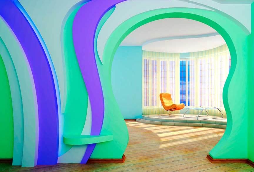 Чтобы арка была уникальной, можно покрасить ее в разные цвета