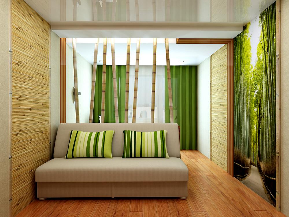 Золотистые бамбуковые обои