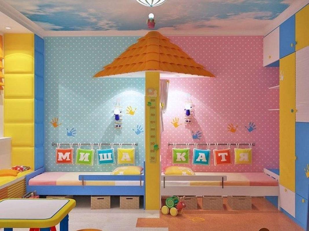 Разделение детской комнаты на зоны