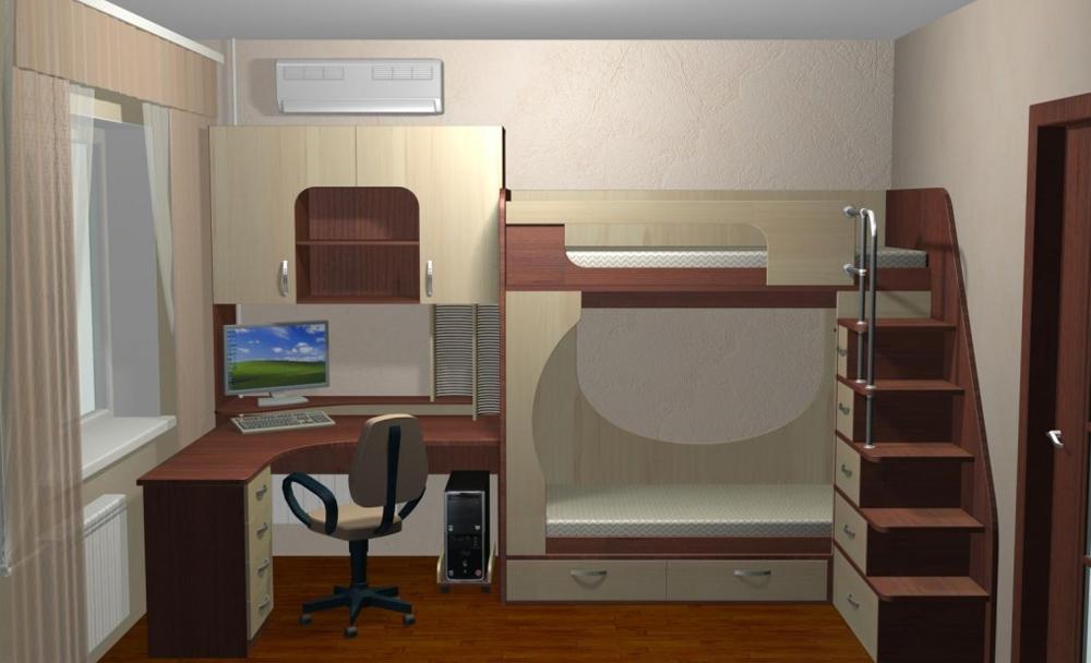 Дизайн небольшой комнаты для мальчика