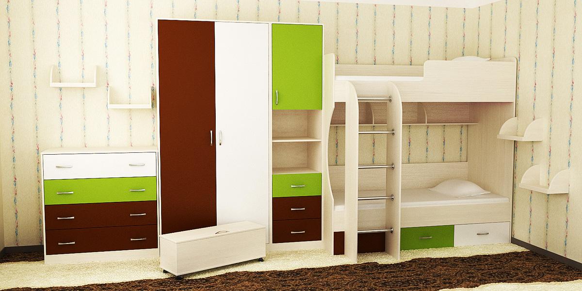 Шкаф + пенал в детскую комнату