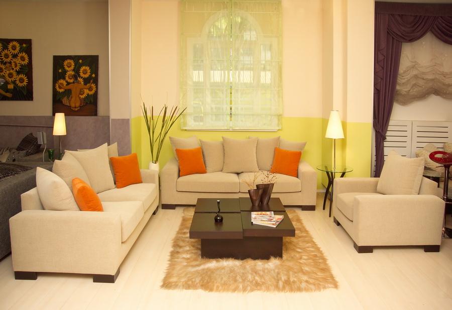Правильное использование цветовой палитры в интерьере зала