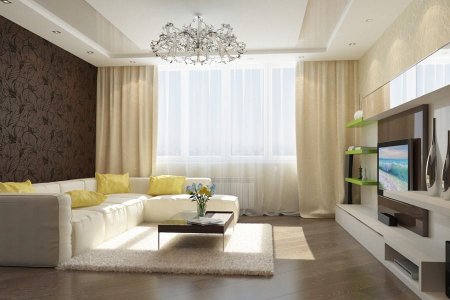 Уютный интерьер зала в квартире