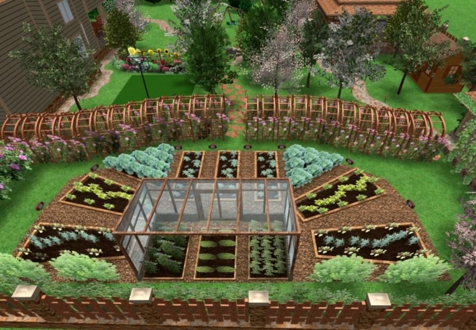 Огород своими руками планировка 11