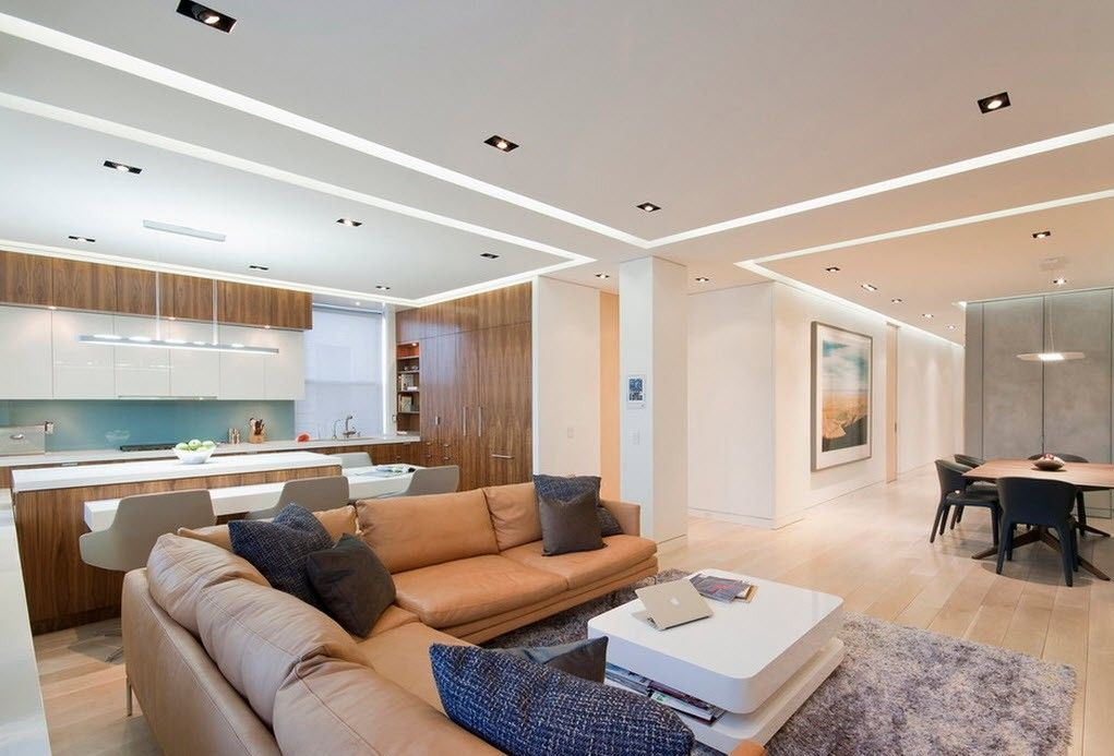 Благодаря гипсокартону можно воплотить в реальность любой вид потолка