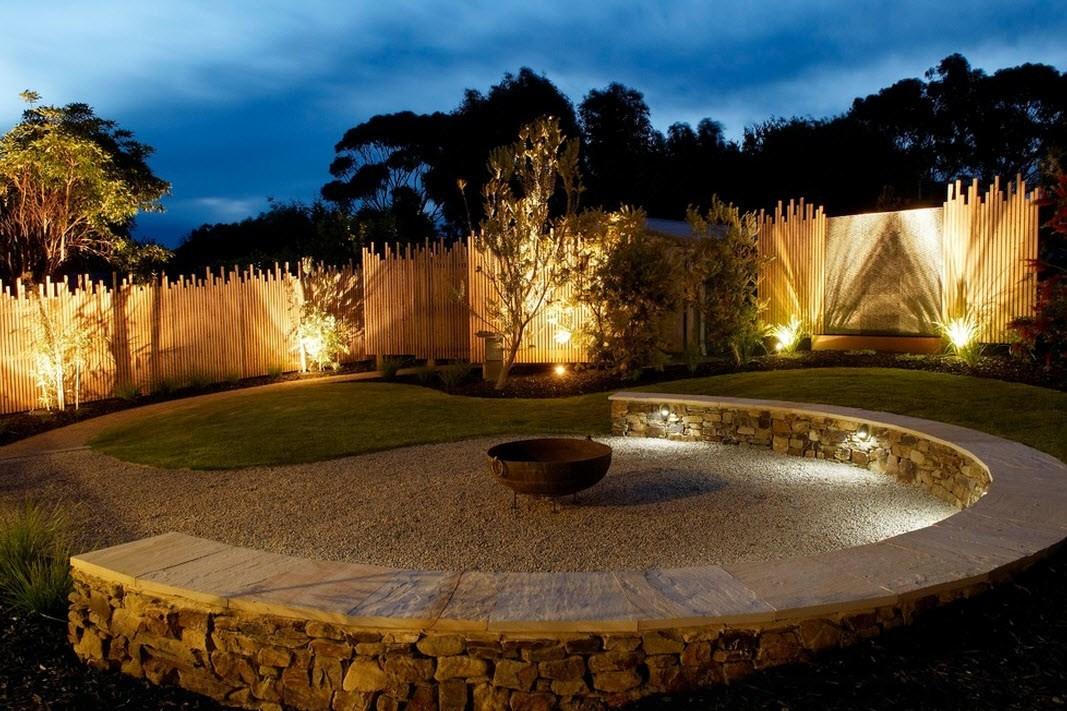 Планирование освещения частного двора