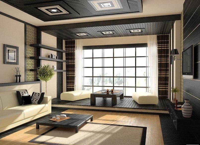 Альтернативой обыкновенным столам в японском стиле служат низкие бамбуковые столики