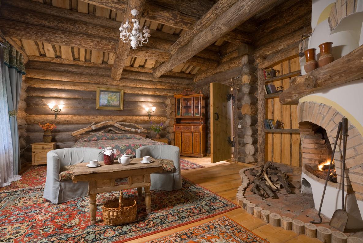 Дизайн внутри частного деревенского дома в стиле кантри