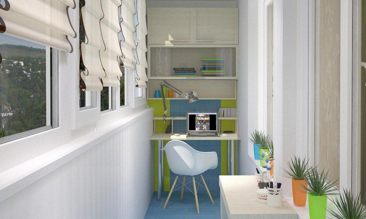 Современный дизайн небольшого балкона