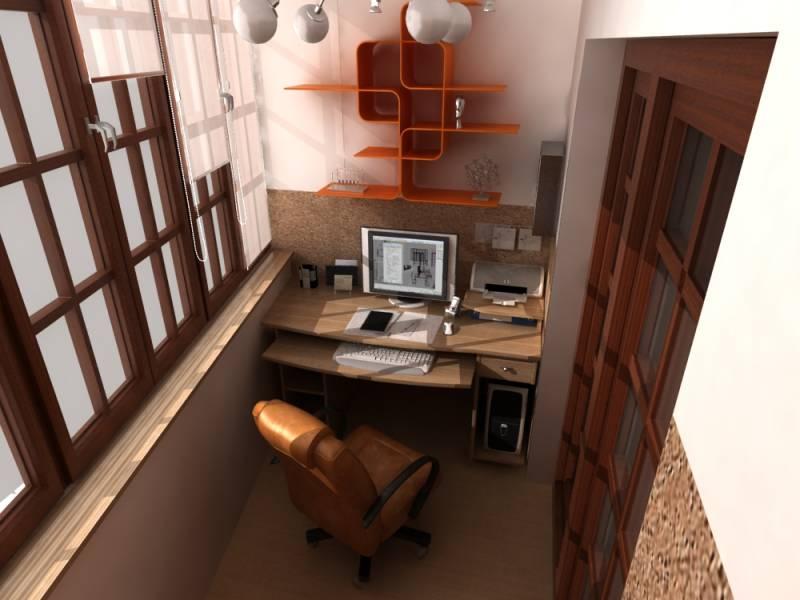 Рабочий кабинет на балконе фото вариантов.