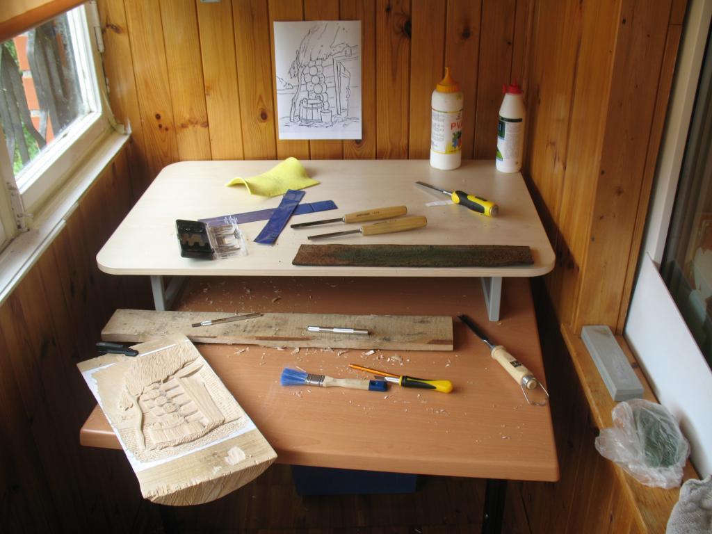 Создание творческой мастерской на небольшом балконе