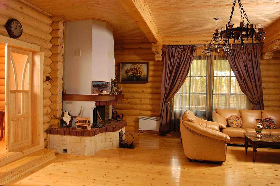 Оформление интерьера внутри дачного дома в стиле кантри