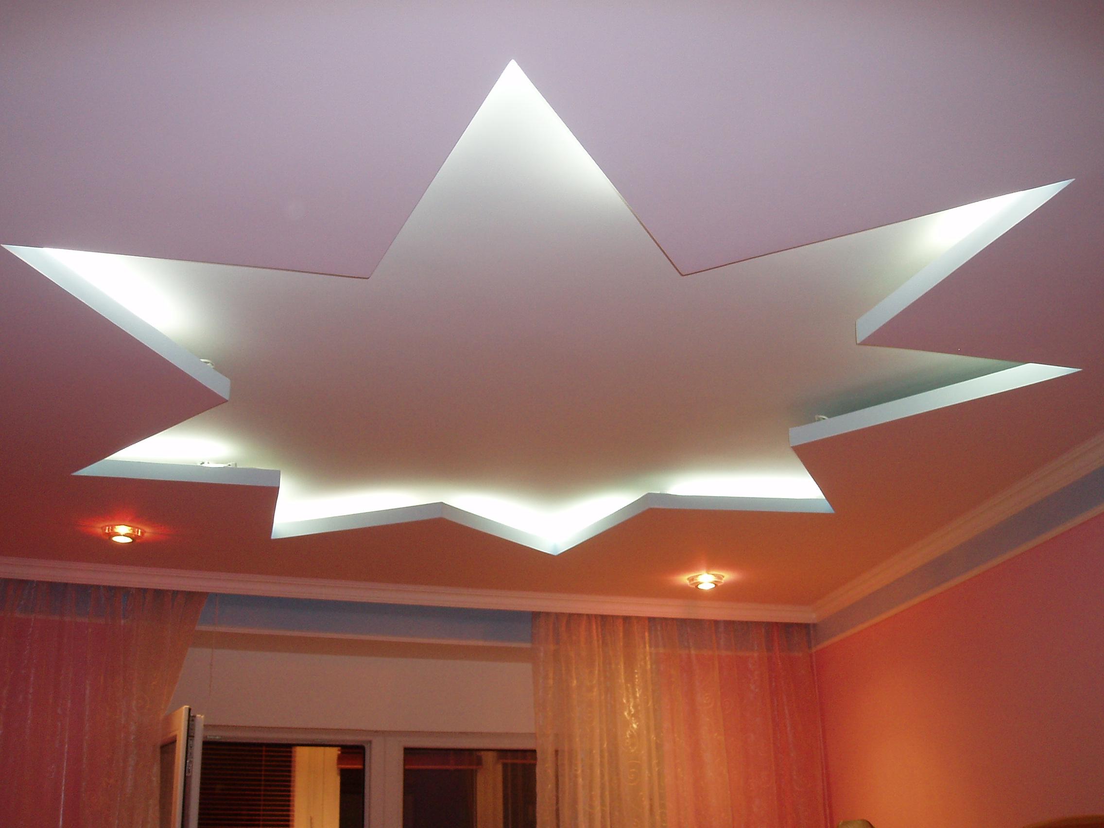 Фото потолка из гипсокартона