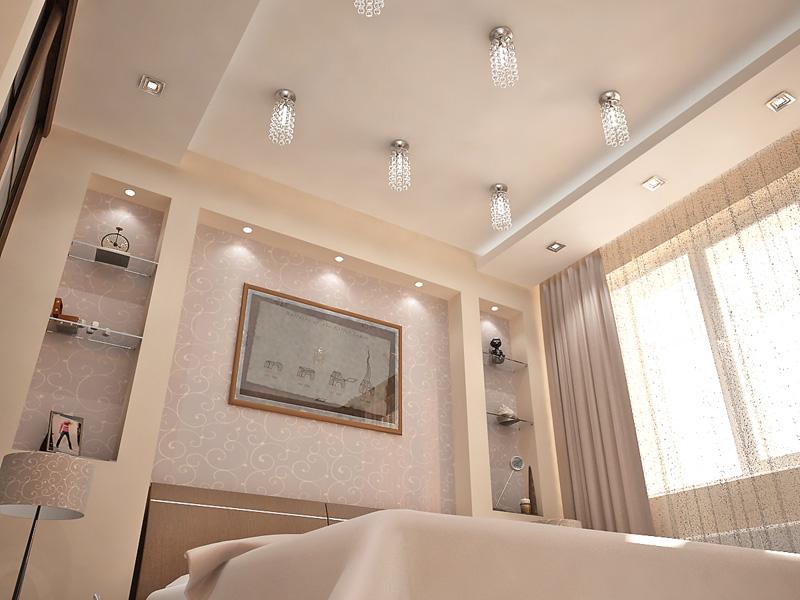 Дизайн потолка из гипсокартона