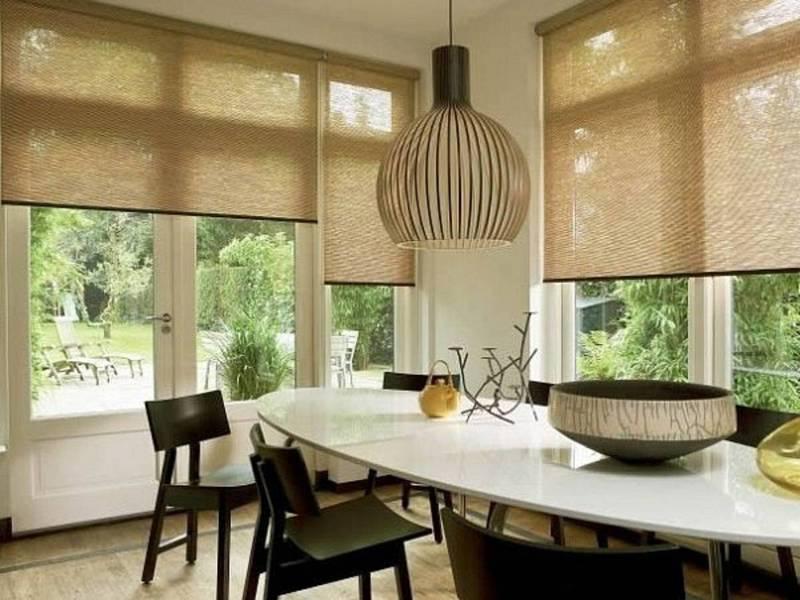 Дизайн рулонных штор для кухни