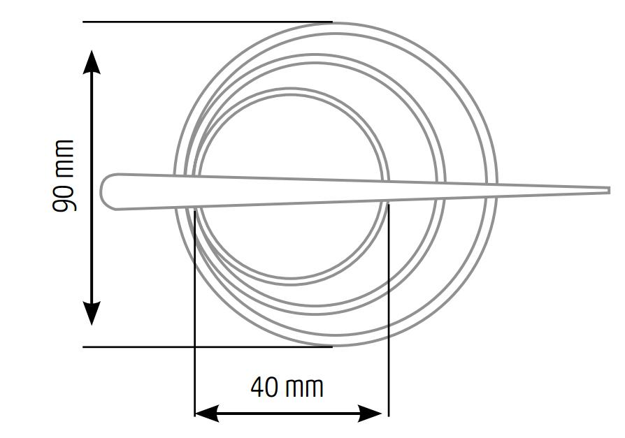 Размеры заколки для штор