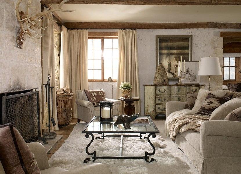 Шторы для спальни в деревенском стиле