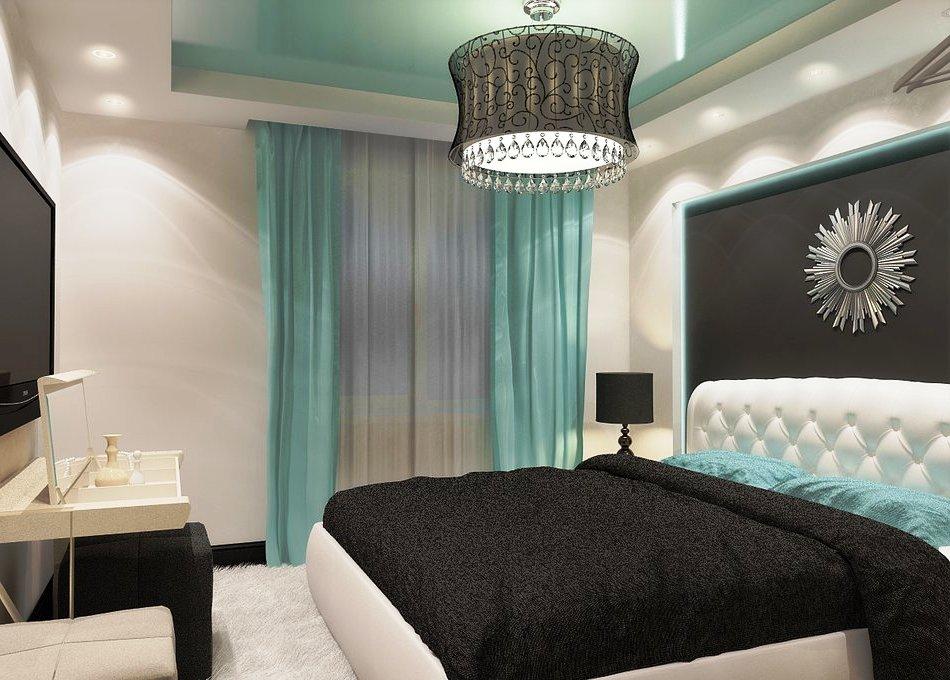 Шторы для спальни в стиле хай тек