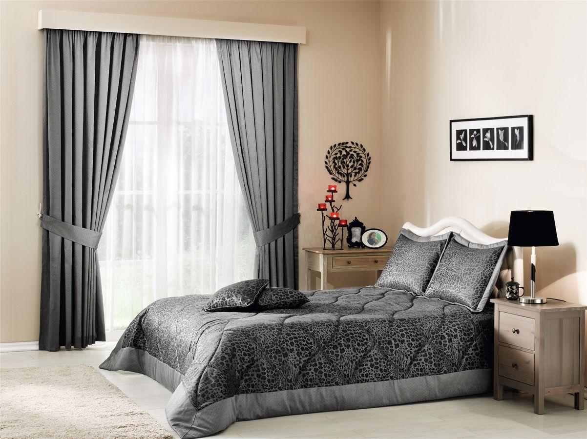 Современные шторы серого цвета