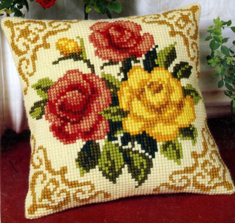Вышивка крестом подушки