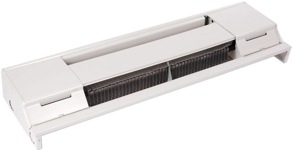 Мощность водяного теплого плинтуса зависит от диаметра трубопроводов и площади теплообменных пластин