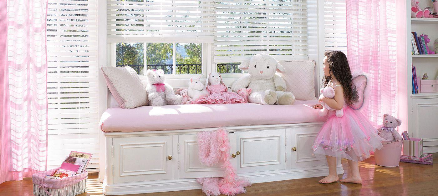 Деревянные жалюзи из элитных пород дерева — идеальное решение для комнаты маленькой принцессы