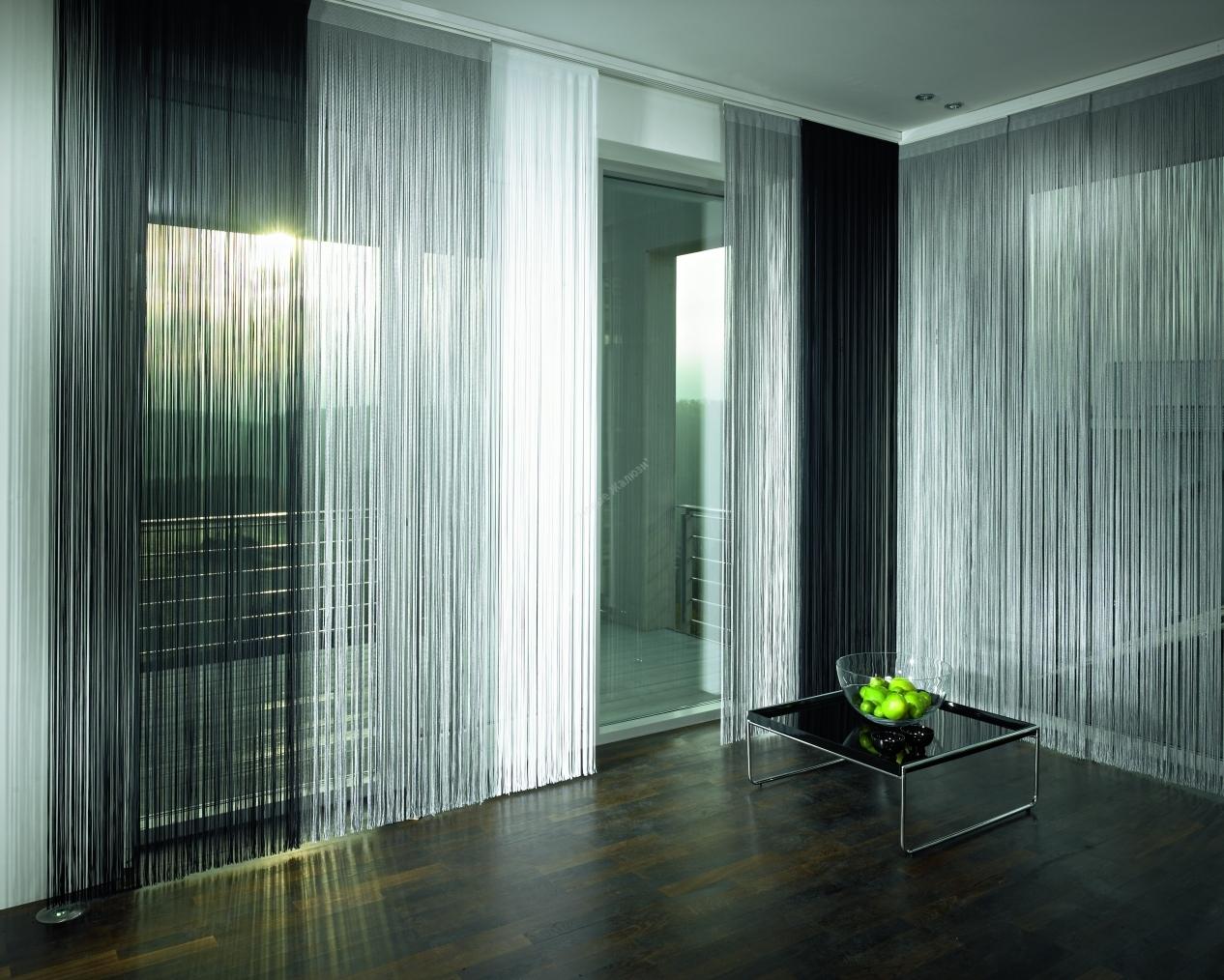 Нитяные шторы в стиле хай тек