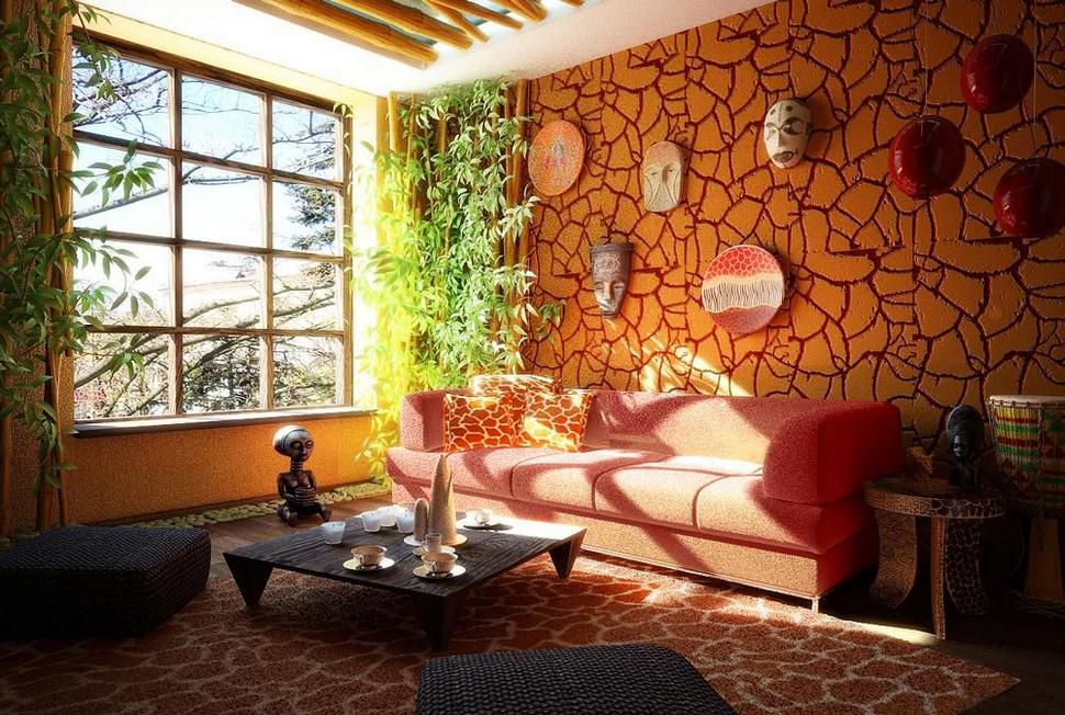 Африканский стиль комнаты
