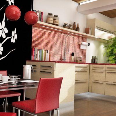 Фото дизайн кухни в китайском стили