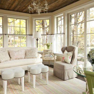 Фото гостиной в стиле шебби шик