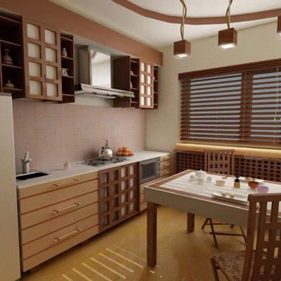 Фото японского стиля в интерьере кухни